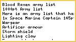 One of my army lists