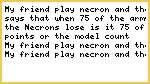 Necron question