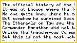 The Untold History of Sept World Lhowon and Commander Marathon