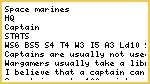 Space Marines- Captain