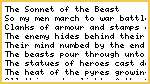 Sonnet of the Beast