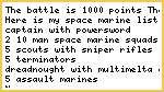 Necron Space marine battle report armies