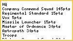 Imperial Guard 1500pt List