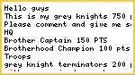 Grey knights 750 pts