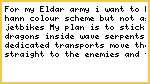 My Eldar Army Idea