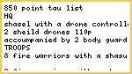Tau 850p list