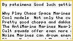 Warhammer 40,000/6th Edition Tactics/Chaos Space Marines