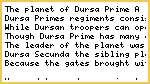 The Ten of Fifth: Prologue - Dursa Prime