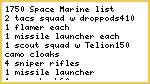 1750 Space Marine List REVISED