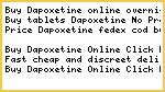 Buy Dapoxetine online overnight delivery
