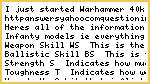 Warhammer 40k Stat Definitions?