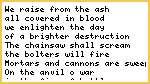 Salamanders battle Hymn