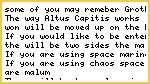ALTUS CAPITIS!