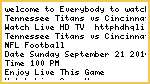 Tennessee Titans vs Cincinnati Bengals Live Stream