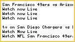 #NFL* San Francisco 49ers vs Arizona Cardinals Live Streaming