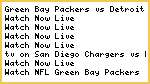 #NFL* Green Bay Packers vs Detroit Lions Live Streaming