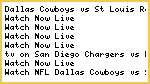 (Watch-Live)Dallas Cowboys vs St. Louis Rams Live Streaming NFL Online Tv Covarege