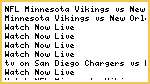 Watch#NFL* Minnesota Vikings vs New Orleans Saints Live Streaming 2014 Online Sunday