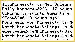 *live@Minnesota vs New Orleans live stream fox+CBS NFL