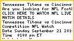 Fox TV/// Tennessee Titans vs Cincinnati Bengals Live NFL Streaming