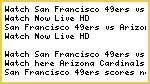 {ESPN} San Francisco 49ers vs Arizona Cardinals Live NFL Stream