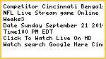 Cincinnati Bengals vs Tennessee Titans live Streaming Free To Watch
