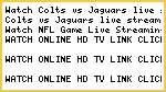 straming for nfl!@!@Colts vs Jaguars live stream