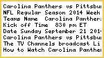 ^SNF^$#Carolina Panthers vs Pittsburgh Steelers Live Stream NFL