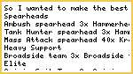 2500 Piont List for Spearhead