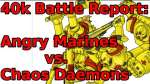 Angry Marines Battle Report!!!