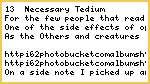 13 - Necessary Tedium