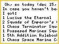 I got my Chaos! YAY!