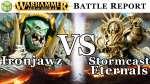Ironjawz vs Stormcast Eternals Age of Sigmar Battle Report - War of the Realms 187