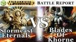 Stormcast Eternals vs Blades of Khorne Age of Sigmar Battle Report - War of the Realms Ep 191