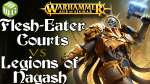 Flesh-Eater Courts vs Legions of Nagash Age of Sigmar Battle Report Ep 225