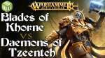Blades of Khorne vs Daemons of Tzeentch Age of Sigmar Battle Report - War of the Realms Ep 235