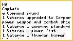 2500 pt. Ultramarine army list