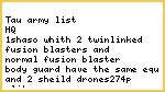 Tau army list for killing a imperial guard army