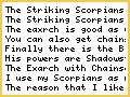 Striking Scorpians