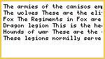 The fangs of canis-Army Regiments and structure