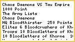 BATREP - Chaos Daemons versus Tau Empire